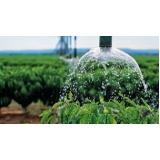 análise de água irrigação
